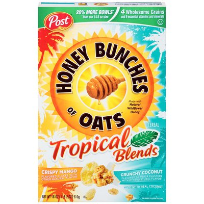 Honey Bunches Of Oats Tropical Blends Mango and Coconut Cereal