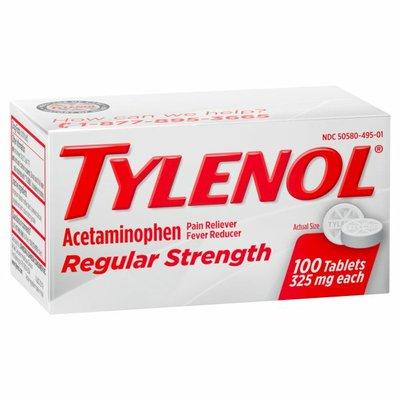 Tylenol Regular Strength Tablets, 325 Mg