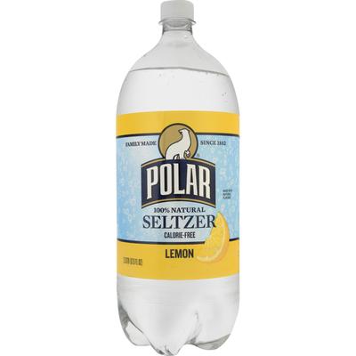 Polar Seltzer, 100% Natural, Lemon