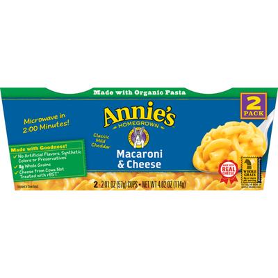 Annie's Classic Mild Cheddar Microwavable Macaroni and Cheese Micro Cup