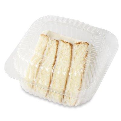 Publix Bakery Cream Cheese Iced Vanilla Cake Slice (610 Cal/slice)