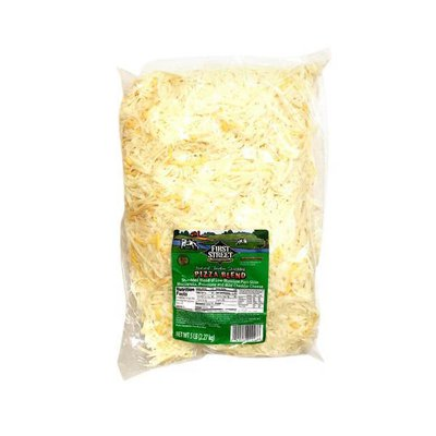 First Street Pizza Blend Feather Shredded Low-moisture Part-skim Mozzarella, Provolone & Mild Cheddar Cheese