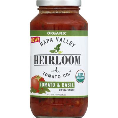 Napa Valley Naturals Organic Heirloom Tomato Co. Pasta Sauce Tomato & Basil