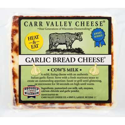 Carr Valley Cheese Bread Cheese, Garlic