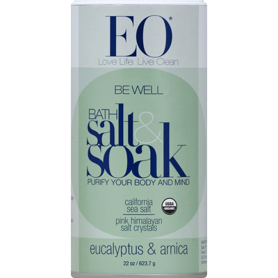 EO Products Bath Salt & Soak, Eucalyptus & Arnica