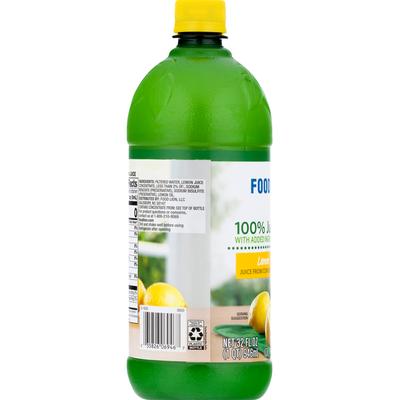 Food Lion 100% Juice, Lemon