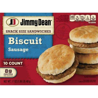 Jimmy Dean Snack Size Biscuit Sausage Sandwiches
