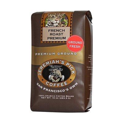 Jeremiahs Pick Coffee Coffee Beans, Premium Ground, Dark Roast, French Roast Premium