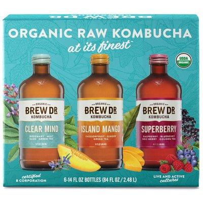 Brew Dr. Kombucha Organic Kombucha Variety Pack