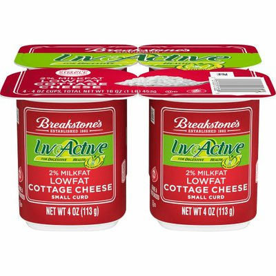 Breakstone'S Live Active Lowfat Small Curd Cottage Cheese with 2% Milkfat