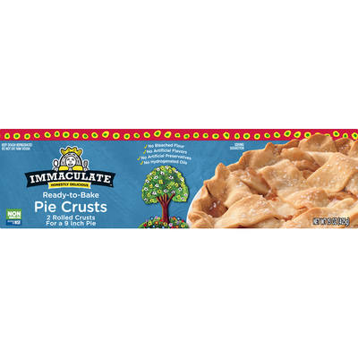 Immaculate Bakery Pie Crusts, Ready-to-Bake, 9 Inch