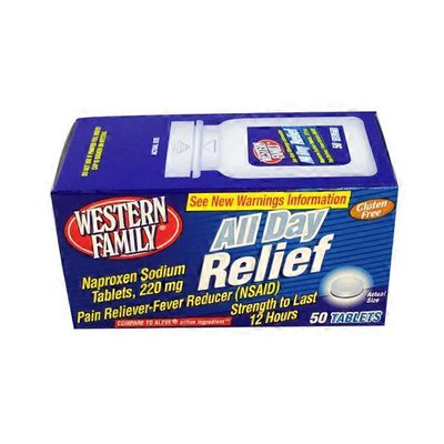 Western Family All Day Relief Naproxen Sodium Tablets