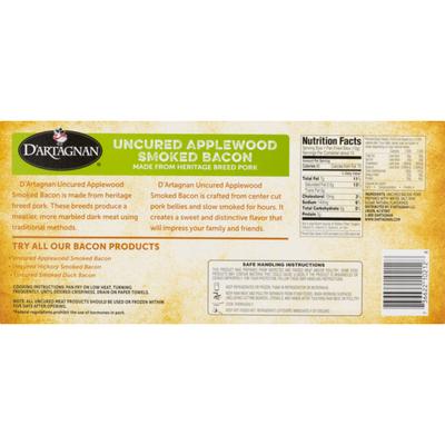 D'Artagnan Bacon, Uncured Applewood Smoked