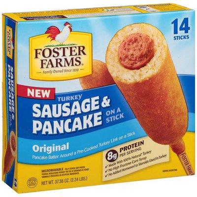 Foster Farms Turkey Sausage & Pancake, On a Stick, Original