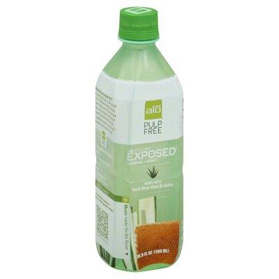 ALO Juice, Original + Honey, Exposed, Pulp Free