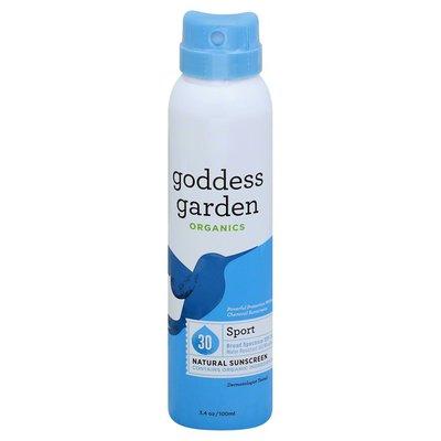 Goddess Garden Sunscreen, Natural, Sport, Broad Spectrum SPF 30