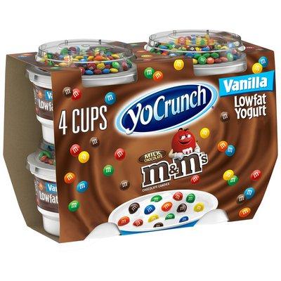 YoCrunch low fat Vanilla with M&Ms Yogurt