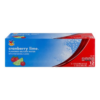 SB Flavored Seltzer Water Cranberry Lime - 12 CT