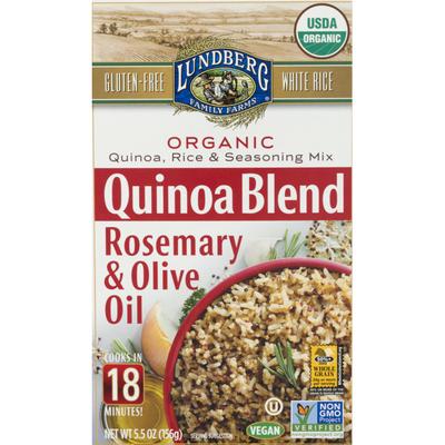 Lundberg Family Farms Quinoa Blend Rosemary & Olive Oil Organic Rice Mix