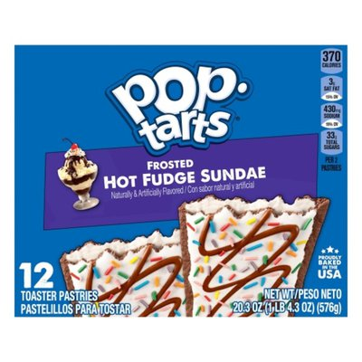 Kellogg's Pop-Tarts Toaster Pastries, Breakfast Foods, Frosted Hot Fudge Sundae