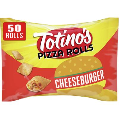 Totino's Pizza Rolls, Cheeseburger, 50 Rolls (frozen)