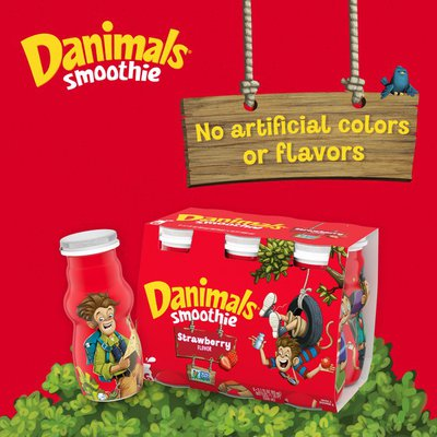 Danimals Strikin' Strawberry Kiwi Smoothies