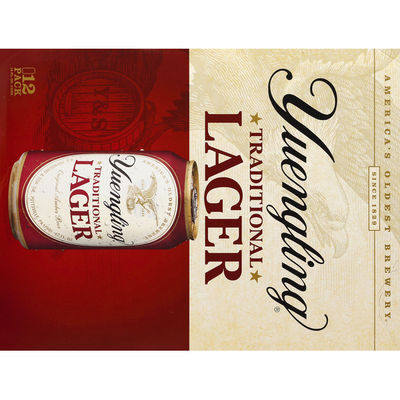 Yuengling Beer, Lager, Traditional, 12 Pack