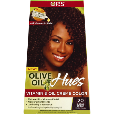 Ors Permanent Hair Color, Vitamin & Oil Creme Color, 20 Cocoa Brown