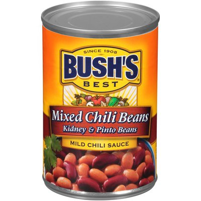 Bush's Best Mixed Kidney & Pinto Beans in a Mild Chili Sauce