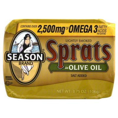 Season Brand Lightly Smoked Sprats In Olive Oil