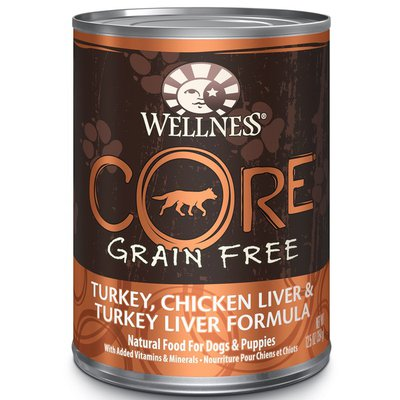 Wellness Core Turkey, Chicken Liver & Turkey Liver Formula Natural Food For Dogs