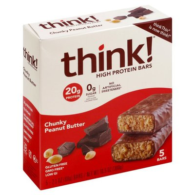 Think Thin Chunky Peanut Butter Chocolate High Protein Bars