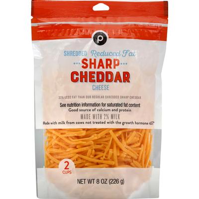 Publix Shredded Cheese, Reduced Fat, Sharp Cheddar