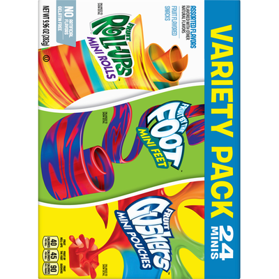General Mills Fruit Flavored Snacks, Assorted Flavors, Variety Pack, 24 Minis