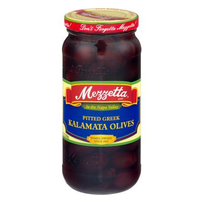 Mezzetta Olives, Kalamata, Greek, Pitted