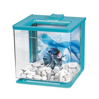 Marina 0.7 Gallon Betta EZ Care Aquarium Kit Blue