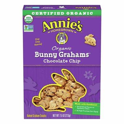 Annie's Organic Whole Grain Chocolate Chip Bunny Graham Snacks