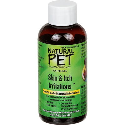 Natural Pet Pharmaceuticals Skin & Itch Irritations Relief Homeopathic Remedy for Felines