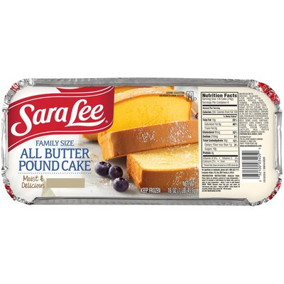 Sara Lee Pound Cake, All Butter, Family Size