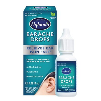 Hyland's Ear Drops for Swimmer's Ear, Earache Drops for clogged ears, fast, natural relief