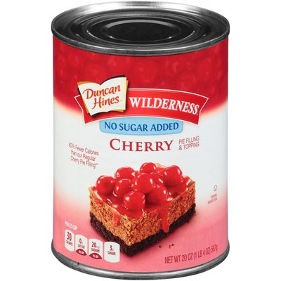 Duncan Hines Cherry Pie Filling or Topping, No Sugar Added.