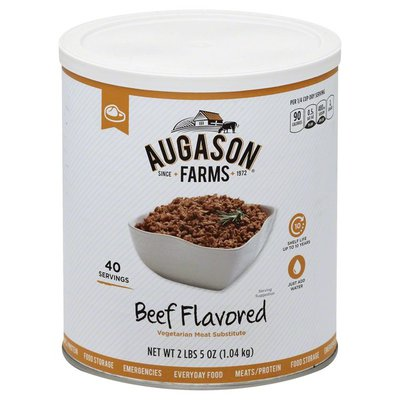 Augason Farms Meat Substitute, Vegetarian, Beef Flavored