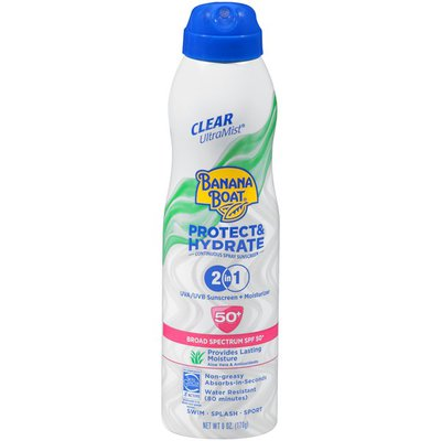 Banana Boat Ultramist Protect & Hydrate SPF 50+ Continuous Spray Sunscreen