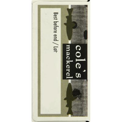 Cole's Mackerel Mackarel, in Olive Oil, Wild