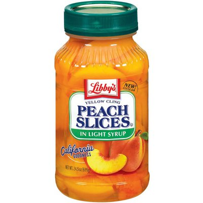Libby's Yellow Cling In Light Syrup Peach Slices