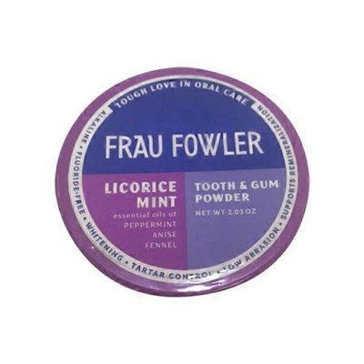 Frau Fowler Licorice Mint Tooth & Gum Powder