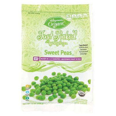 Wegmans Organic Food You Feel Good About Just Picked and Quickly Frozen Sweet Peas