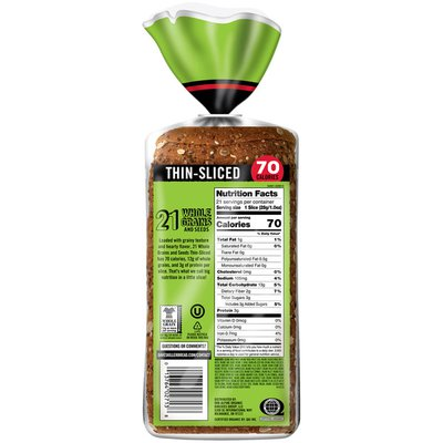 Dave's Killer Bread Thin-Sliced 21 Whole Grains and Seeds Organic Bread