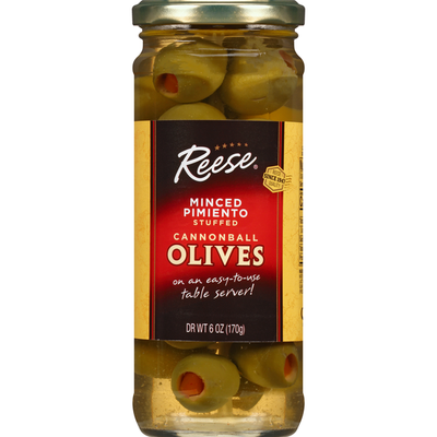 Reese's Olives, Cannonball, Minced Pimiento Stuffed