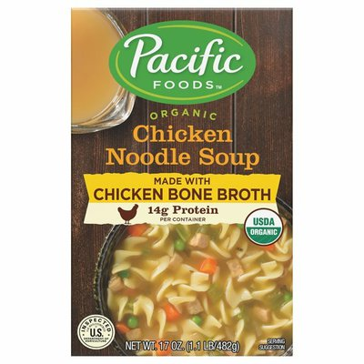 Pacific Organic Chicken Noodle Soup with Chicken Bone Broth